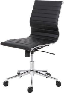 Cadeira Sevilha Eames Sem Braco Pu Preto Base Cromada -38228 - Sun House