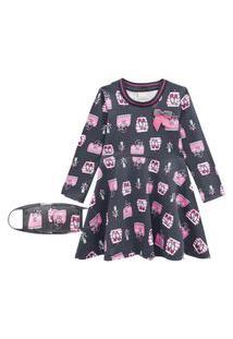 Vestido Infantil Milon Cinza