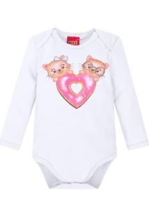Body Bebê Feminino Branco