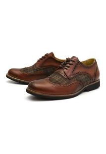 Sapato Oxford Shoes Grand Chess Whisk Caramelo