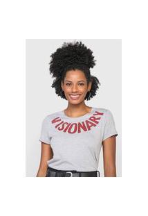 Camiseta Enfim Visionary Cinza