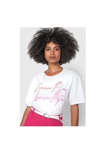 Camiseta Lança Perfume Oversized Branca