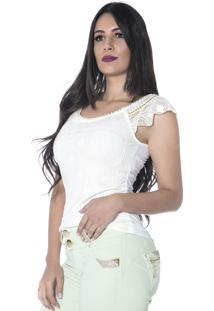 f6a7e9d8c Blusa Branca Chatons feminina | Shoes4you