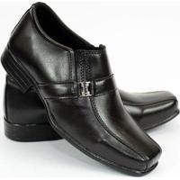 f523e00c9 Sapato Social Garra Infantil Couro Ecológico - Masculino-Preto