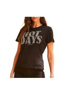 Camiseta Forum Estampada Fran Preta Feminina