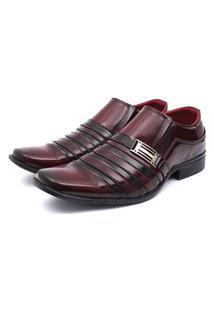 Sapato Social Leve Renovally Vinho
