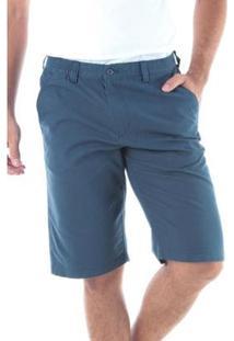 Bermuda Traymon Sarja Regular Com Elástico Masculina - Masculino-Azul Escuro