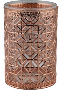 Porta Velas Deorando Com Classe Bronze 12X8Cm