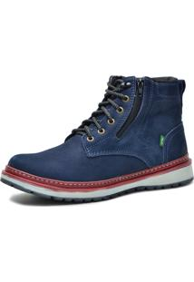 Bota Worker Over Boots Couro Azul Naval Urban