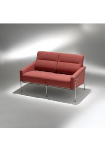 Sofá 3.302 2 Lugares Estrutura Aço Inox Studio Mais Design By Arne Jacobsen