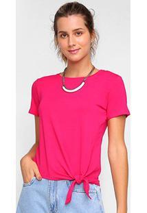Camiseta Dooplex Amarração Feminina - Feminino-Pink