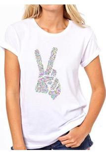 Camiseta Coolest Paz E Amor Feminina - Feminino