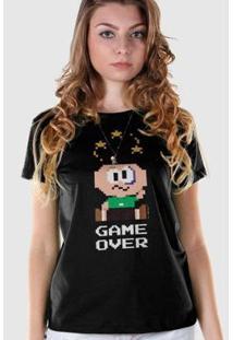 Camiseta Bandup Turma Da Mônica Cebolinha Game Over - Feminino