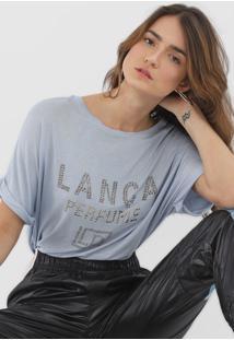 Camiseta Lança Perfume Aplicações Azul