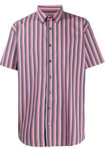 Not Guilty Homme Camisa Listrada - Cinza