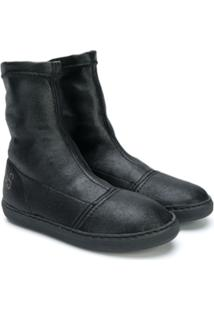 2 Star Kids Ankle Boot Com Logo - Preto