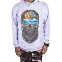 Moletom Outlet Dri Estampado Beard Colored Skull Branca 519feecb944aa