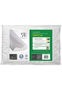 Travesseiro Cervical Para Fronhas 50X70 Cm Branco - Fibrasca