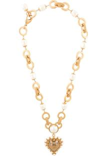 Dolce & Gabbana Colar Dg Heart - Dourado