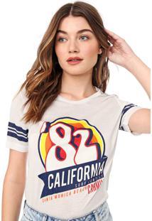 Camiseta Carmim Califórnia Off-White - Kanui