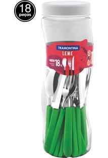 Faqueiro Inox Tramontina 18 Peças Leme Verde