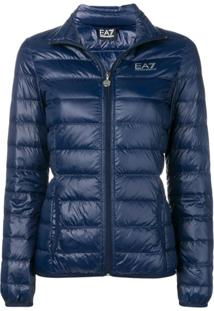 Ea7 Emporio Armani Fitted Puffer Jacket - Azul