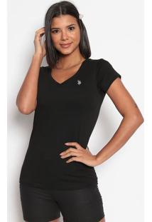 Camiseta Lisa Bordada- Pretaus Polo