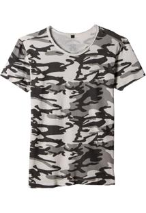 Camiseta John John Cammo Off White Feminina (Off White, Gg)