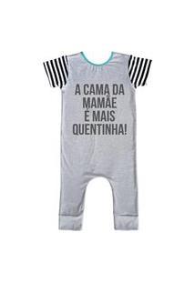 Pijama Comfy Cama Da Mamãe Cinza