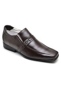 Sapato Masculino Elegante Em Couro - Café 05Rt