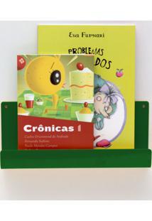 Organizador Quartinhos Porta Livros E Revisteiro De Parede Infantil Verde - Tricae