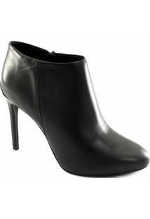 Ankle Boot Couro Bottero Salto Fino 284801 Feminina - Feminino