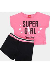 Conjunto Infantil Kyly Super Girl Feminino - Feminino