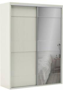 Guarda-Roupa Solteiro Com Espelho Reims 2 Pt 2 Gv Off White
