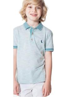 bd96aa0f4d Camisa Polo Infantil Flame Mistura Reserva Mini Masculina - Masculino-Azul  Claro