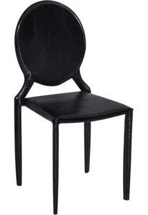 Cadeira Amanda Medalhão Crocco Preto Rivatti