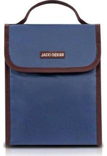 Bolsa Térmica Jacki Design De Poliéster Folha De Alumínio - Unissex-Marinho