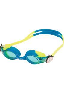 Óculos De Natação Floty Bicolor Cebolinha - Infantil - Azul/Verde