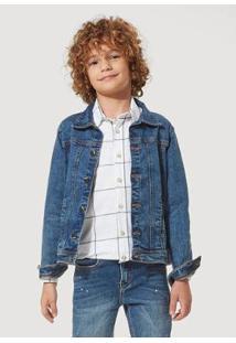 Jaqueta Jeans Infantil Hering Masculino - Masculino-Azul