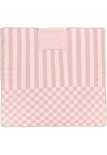 Fendi Kids Cobertor Com Mix De Estampas - Pink & Purple