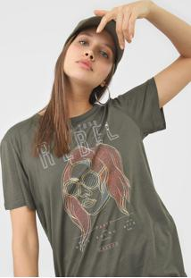 Camiseta Colcci Keep Your Rebel Verde - Verde - Feminino - Viscose - Dafiti