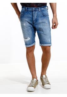 Bermuda John John Clássica Russia Jeans Azul Masculina (Jeans Medio, 40)