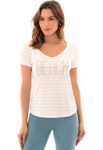 T-Shirt Richini Estampada Off-White