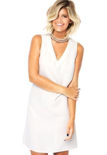 Vestido Dafiti Ontrend Gargantilha Off-White