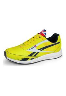 Tênis Sneaker Leve Masculino Confort Gb East Jaguar Amarelo