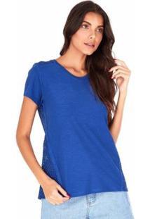 Camiseta Sidewalk Marina Feminina - Feminino-Azul