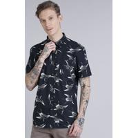 946b641fd9 Camisa Masculina Estampada Com Bolso Manga Curta Off White
