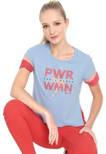 Camiseta Alto Giro Skin Power Woman Azul