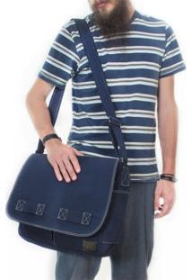 Bolsa Carteiro De Lona Jack – Azul Marinho