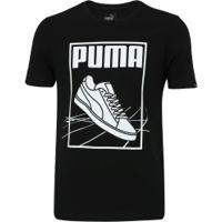 df93a49f9d Camiseta Puma Track Tee - Masculina - Preto Branco